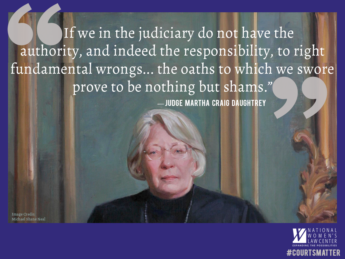 The 6th Circuit recently upheld same-sex marriage bans. Judge Daughtrey wouldn't stand for that, as she explains here http://t.co/njH47AZSRG