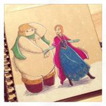 Baymax with some of the Disney princesses http://t.co/gCNYpFVx8E