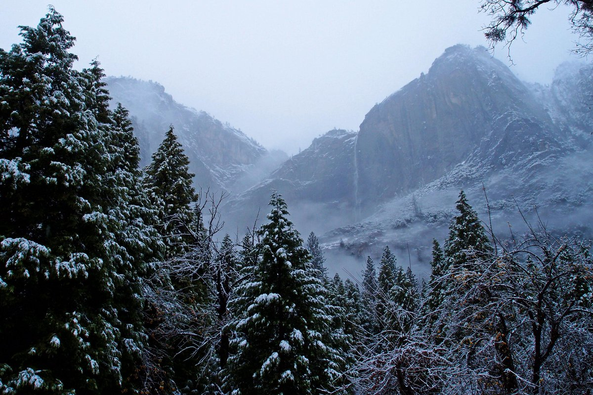 Yosemite Valley's first snow of the season! #Yosemite #NationalParks http://t.co/UHQnmWFcv3