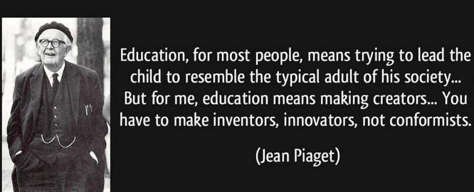 Blijft mooi! RT @harvandeven: Jean Piaget over educatie. Tijdloos http://t.co/uptlPVz90a