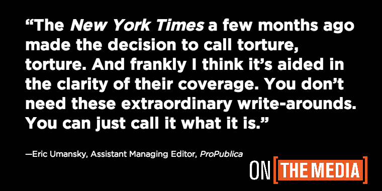 Hear @ericuman, ProPublica's resident torture expert on @onthemedia: http://t.co/AM96EXkEUG http://t.co/fPvRxef43y