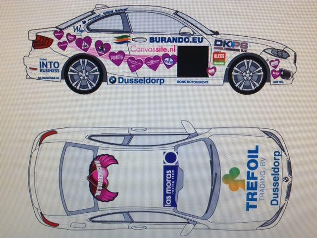 Meet our car for the @24HSERIES Dubai! Do you want to support us, there are still hearts