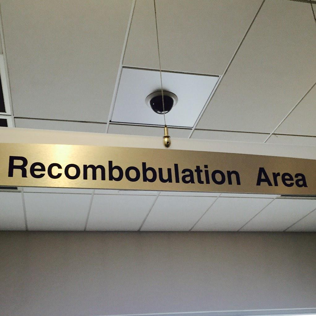 Great sign at Milwaukee airport today! This was just past the security checkpoint. http://t.co/6dvAwcNczO
