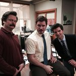 RT @JimOHeir: Three of my favorite people.  @Nick_Offerman @prattprattpratt @mradamscott.  I love these boys.  #thanksparkscrew