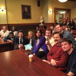 Our last day filming on Parks and Rec. I'm gonna miss this glorious cast and crew very much. #ThankYouParksCrew