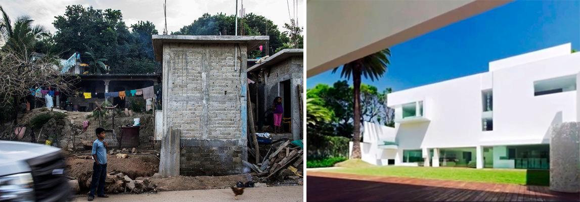 izquierda: el pericón, pueblo de alexander mora, uno de los 43. derecha: la casa de la señora de @EPN  i rest my case http://t.co/lSmsqucPU4