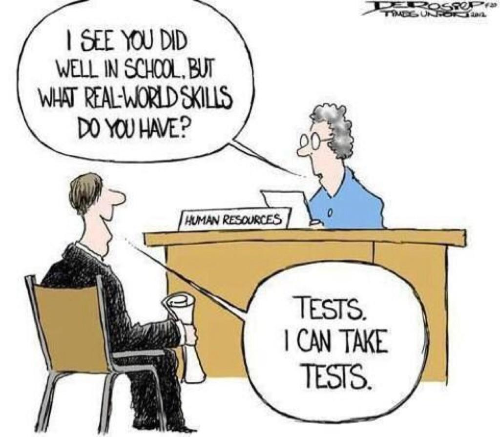 """""""I see you did well at school but what about real world skills?""""  #LearningReimagined  via @stevelawrence http://t.co/n9LEnB4MZx"""