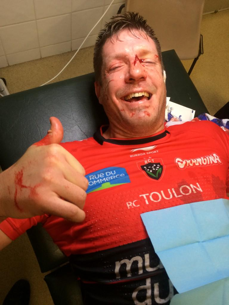 Physical first half & nobody 'nose' it more than the big bad @BakkiesBotha4   And he couldn't be happier!!  #