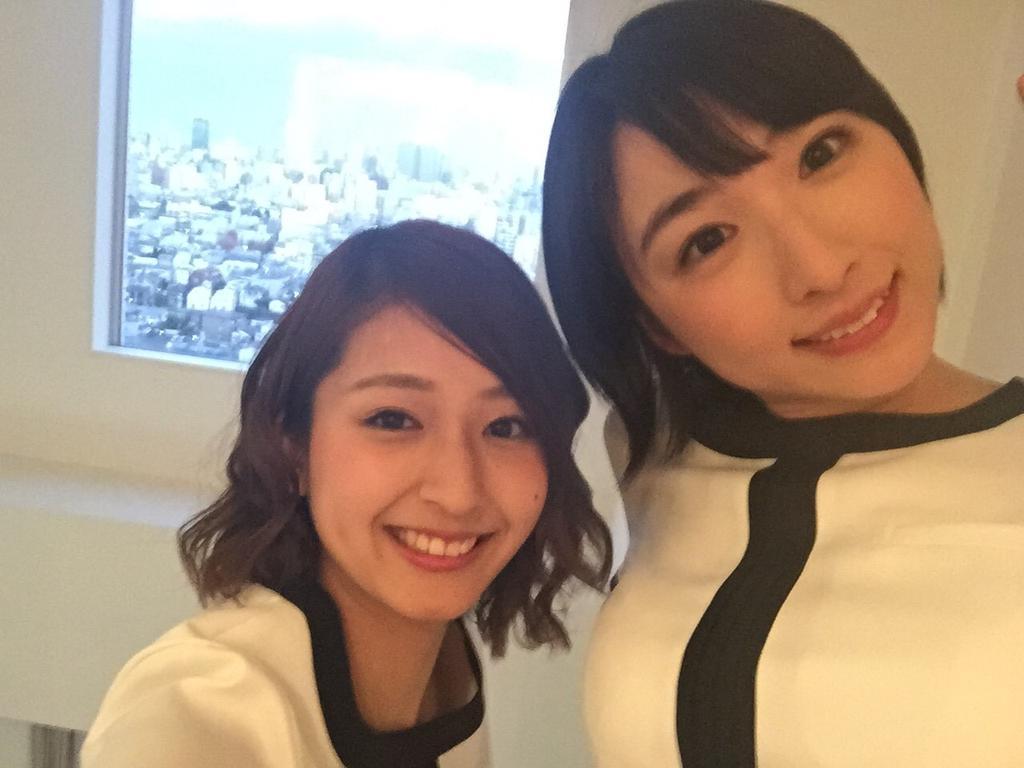 キレイモさんの撮影では、他の大学のミスの子と一緒でした(*^^*)スタジオからの景色は最高!イルミネーションでますます綺麗になってる東京にはドキドキしちゃうね。。また会いたいなぁ♪ http://t.co/CcQZ6r6iQT