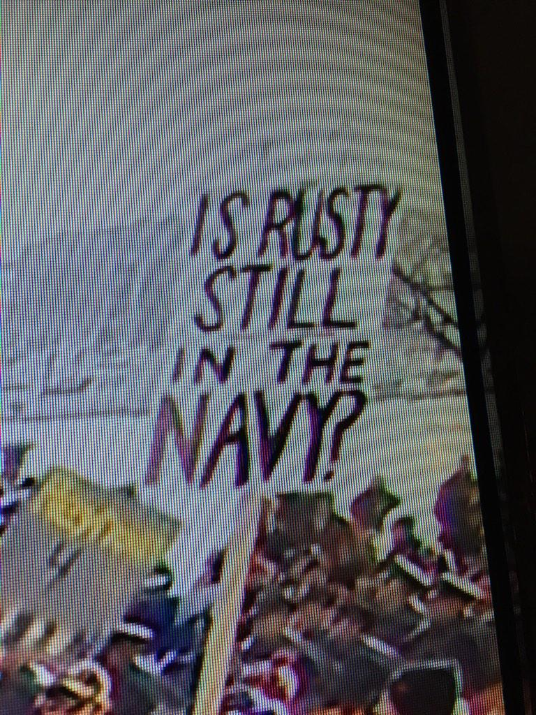 And the @CollegeGameDay sign of the week goes to this guy.  #IsRustystillintheNavy http://t.co/NTuBDr4qa9