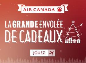 Jouez à la Grande envolée de cadeaux d'Air Canada! Plus d'un million de prix à gagner: