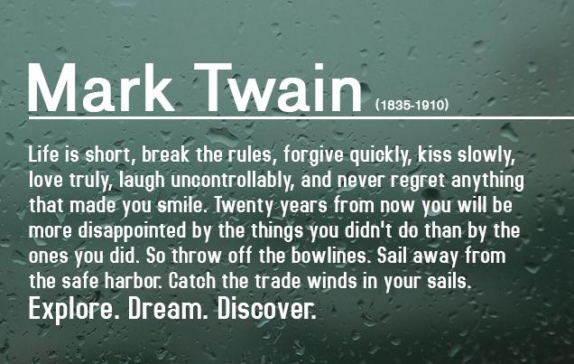 Mark Twain on How to Live http://t.co/VTg451PMIO
