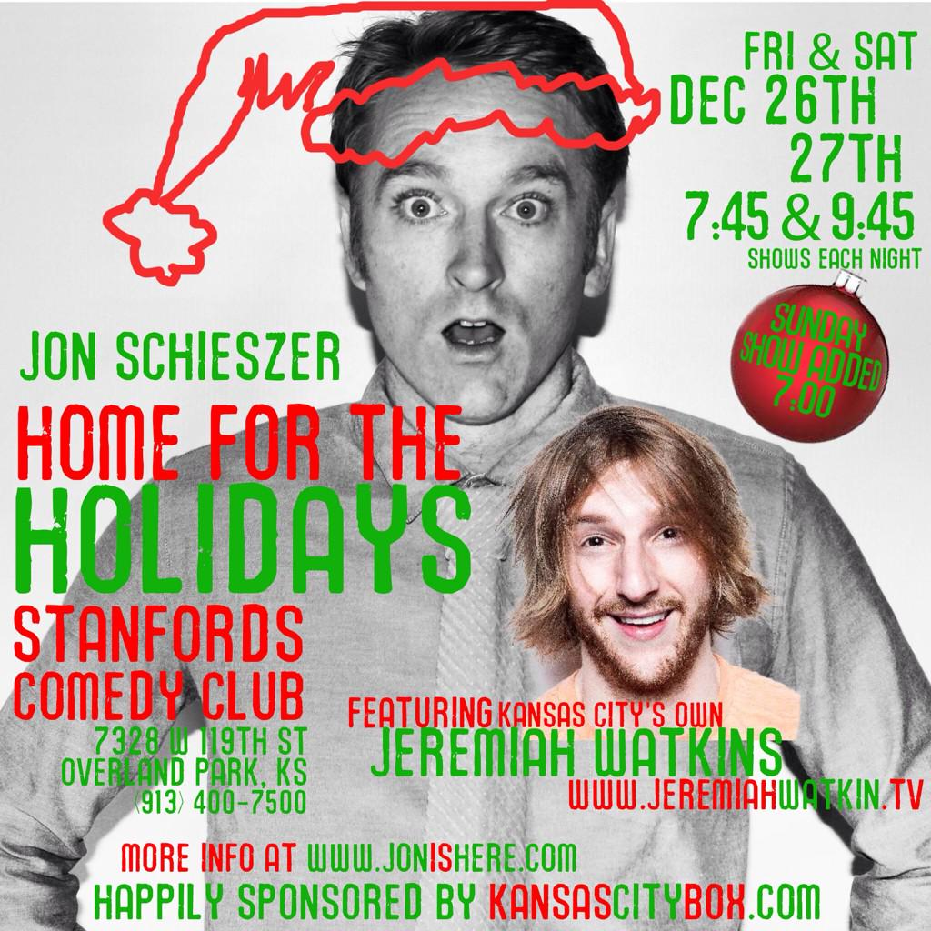 #kansasCity I'll be at @stanfordsop with @jeremiahstandup Christmas weekend! 5 shows  info at http://t.co/QZZldtcJTj http://t.co/j3f5jDmIND