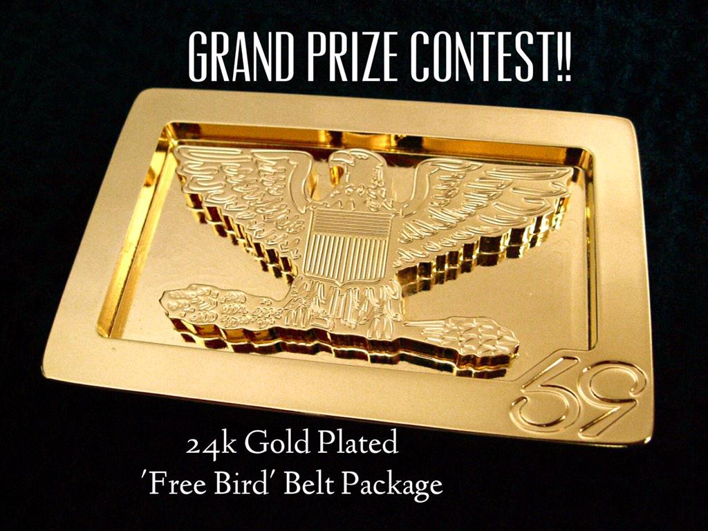 Final Contest!! 24k Gold Plated belt package. ReTweet to enter. **Must Follow to be eligible to Win. #59Contestmonth http://t.co/oZb7s6fUD4