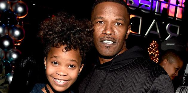Happy 47th birthday to Jamie Foxx! Here he is with Quvenzhané Wallis at the Jingle Ball