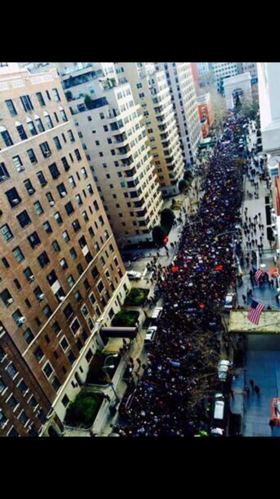 These pictures are so powerful! The millions march in New York today! Don't let xfactor distract u frm wats goin on! http://t.co/s3jROUyynk