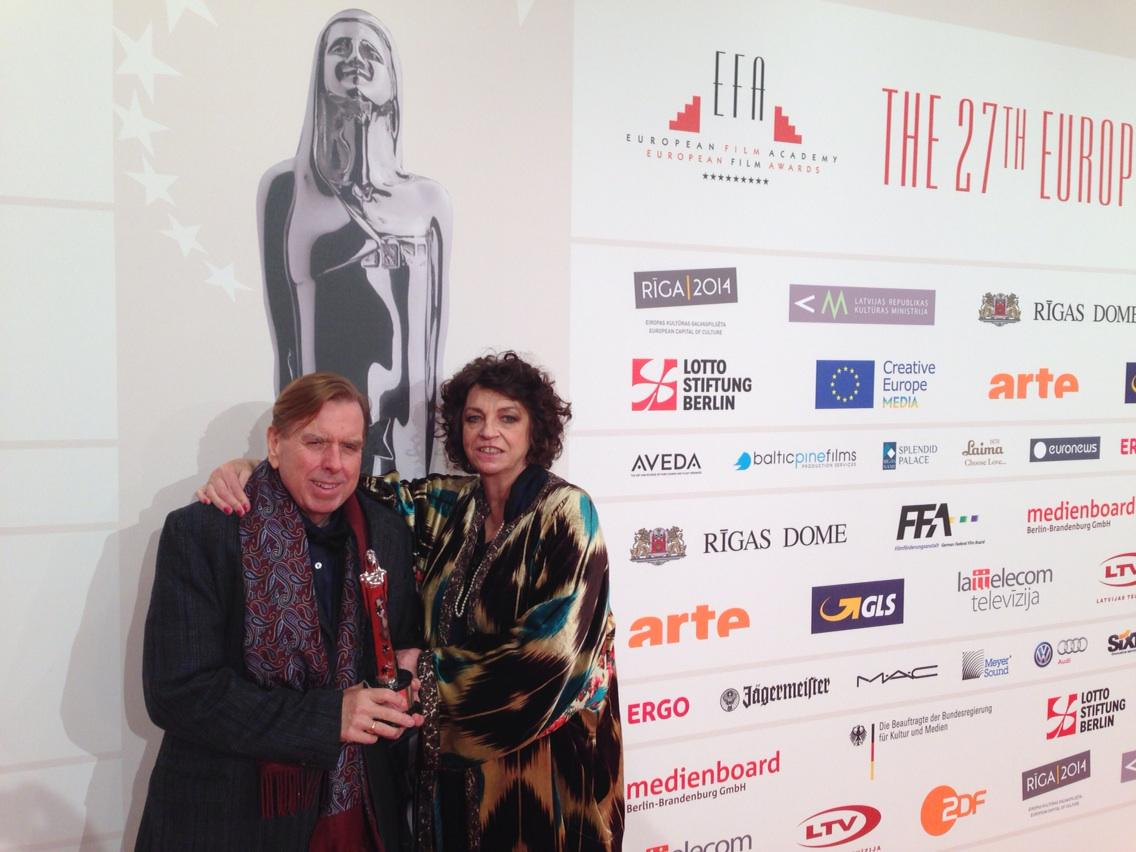 Proud of my husband #mrturner Timothy Spall and his latest award #EFA http://t.co/gRwJBQJRCj