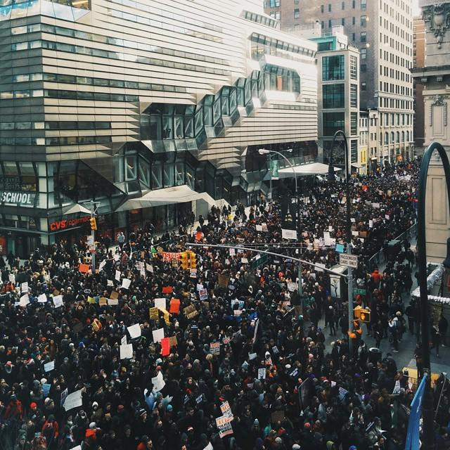 Today on campus. #MillionsMarchNYC #BlackLivesMatter http://t.co/iGSFN54Gst