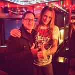Bach on the Bus w Original Skid Row Manager Scott McGhee last night in Nashville. TONIGHT Atlanta 37 Main lets rock!! http://t.co/jMVzuLrcMd