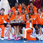 And lastly after the wonderful experience, the icing on the cake was winning the @iptl trophy. @IndianAces #Champions