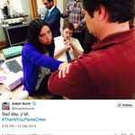 The 'Parks and Recreation' cast got emotional on Twitter on the show's last day of filming: http://t.co/sETvBEGVJO http://t.co/igujNq6FK3
