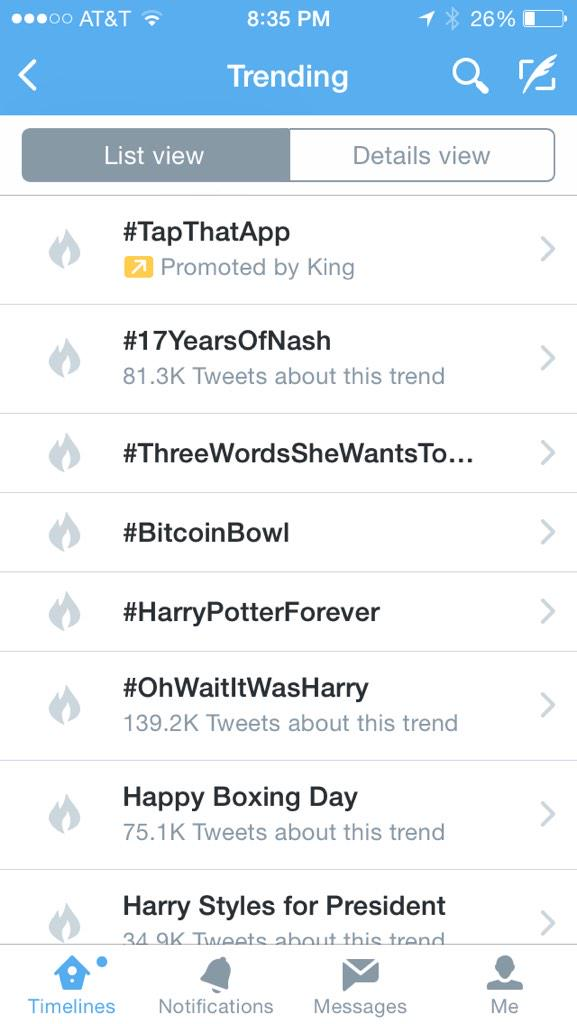 The #BitcoinBowl is trending nationwide. Very awesome! Kudos to @Bitpay and @BitcoinBowl http://t.co/IUSBi4BAZ4