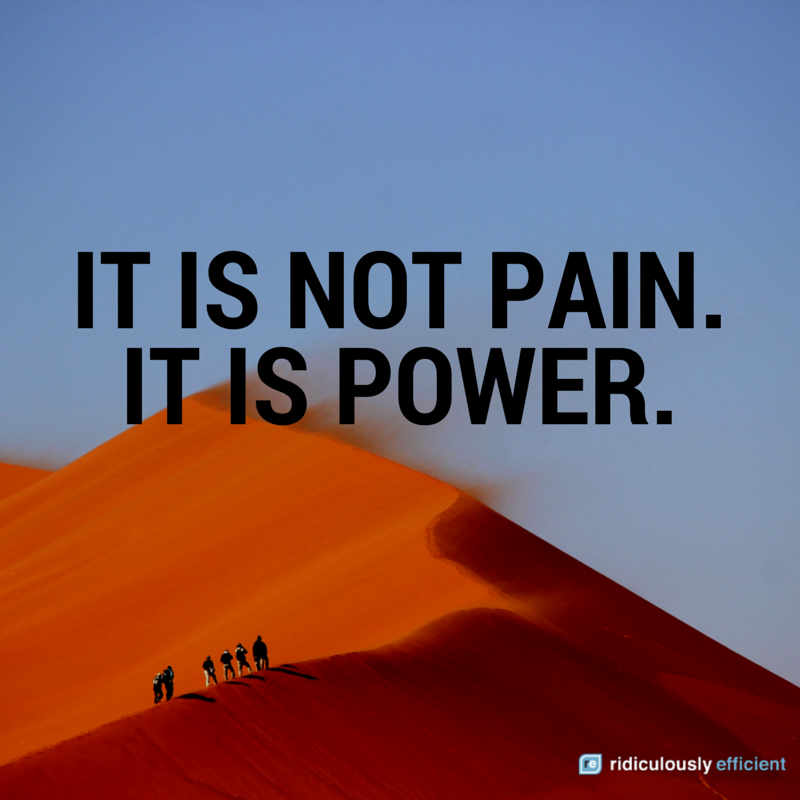 When my dad died on 12/1, I repeated this daily. Join me in saying it now: It is not pain. It is power. http://t.co/nhJ7b5K3Vf