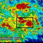 Approximate last location of #QZ8501, plotted on weather image from @EarthUncutTV. http://t.co/iHknp2AK8V