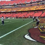 .@TerranceWill2 and @DezBryant warming up #DALvsWAS http://t.co/7aykxMW6fs
