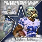 .@DeMarcoMurray has now passed @EmmittSmith22 for the most rushing yards in a single season, in Cowboys history. http://t.co/K0tKckvyvT
