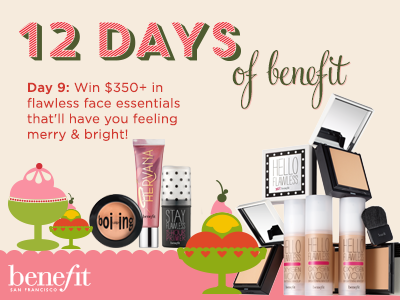 YAY! RT & follow @BenefitBeauty to WIN $350+ of our flawless face faves! #12daysofbenefit http://t.co/JAmH6fI5MS http://t.co/DzPKnM2qgo