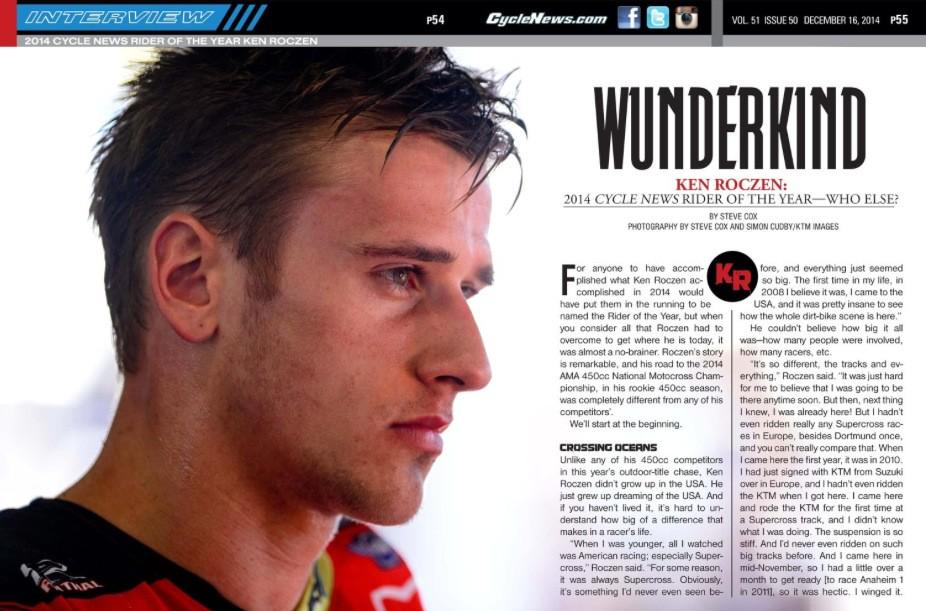 A lot of deserving Champions... We chose @KenRoczen94 for our 2014 Rider of the Year: http://t.co/a1dFF3v7YV http://t.co/qVKpYiR7Yd
