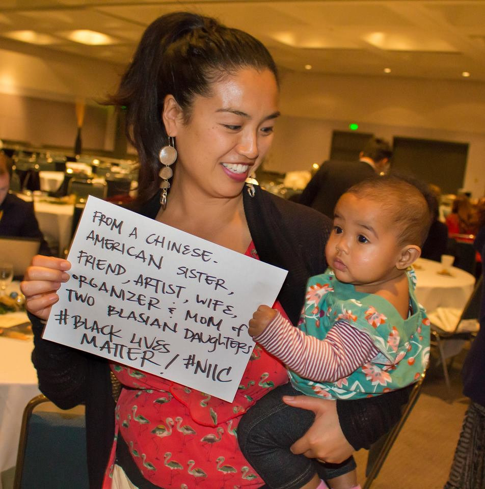 A Chinese African American family at #NIIC National Immigrant Integration Conf wants you to know #BlackLivesMatter! http://t.co/aFHmz8ckT0