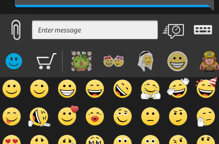 .@BBM Please return the default setting back to emoticons rather than stickers. @gadway @MichaelClewley @BlackBerry http://t.co/Hxe7XkXrcW