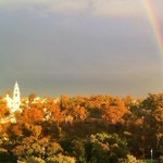 Beautiful Balboa Park draped in rainbows and sunsets. http://t.co/6exdGqbgwZ
