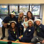 Thank you to the @Seahawks and @TheSeaGals for visiting with our patients and their families today. http://t.co/pA9KV37SVb