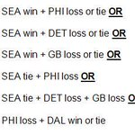 Here are the scenarios that will clinch a playoff berth for the Seahawks this weekend: http://t.co/zHuTxDKMgA