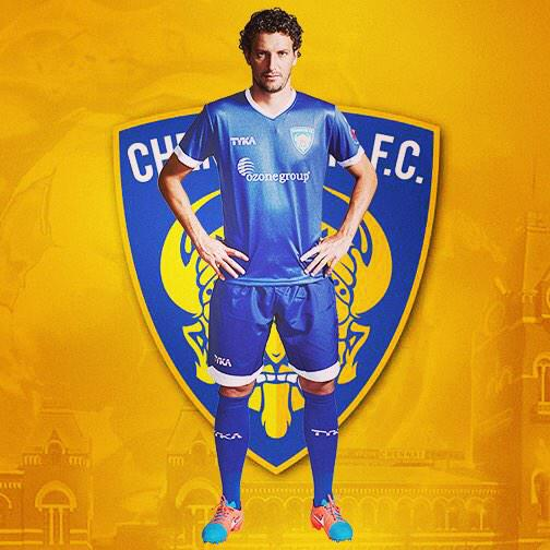 Good morning  !! thanks to all fans in those days lived here in india and playing in @ChennaiyinFC ⚽️