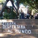 Con pintas 'artísticas'X43 de Ayotzinapa,normalistas buscan nuevas formas de lucha http://t.co/G85NN3nvJz http://t.co/Y8fd3WcLRS #YaMeCansé8