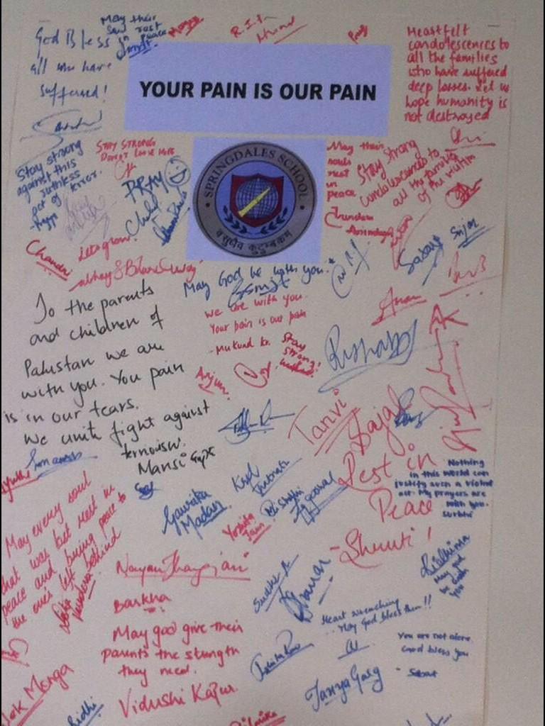 #IndiawithPakistan : Postcard from an Indian School #PashawarAttack #PeshaerSchoolAttack http://t.co/cHxnurizBW