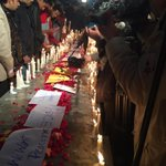 Candle Light Vigil at Liberty Chowk, Lahore right now for #PeshawarAttack martyrs. http://t.co/DfBNBPqiJ3