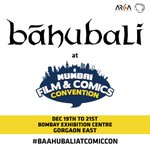 RT @BaahubaliMovie: Catch us at Comic Con in Mumbai. #Baahubaliatcomiccon #Mumbai #ComicCon