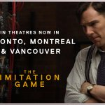 Today's the day! The #ImitationGame is now playing in #Toronto #Montreal & #Vancouver. Tickets http://t.co/cRqM32kQNj http://t.co/EOOvhBk63n