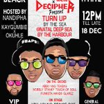 #TurnupByTheSea This Thursday with @WTF_DBN @Njomz_SH @NAG_SMB @GlarezH @Hands_Dj Turn up!! http://t.co/MI95nBwNEb