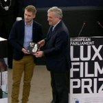 Rok Biček, režiser #RazredniSovražnik, finalist za #LuxPrize prejema priznanje v Evropskem parlamentu #EP. http://t.co/7lXGHE1hkw