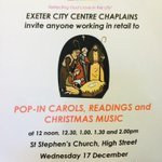 City Centre worker? Why not pop in to St Stephens Church this lunchtime for #carols, readings & #Christmas music? http://t.co/QsE21UhoJH