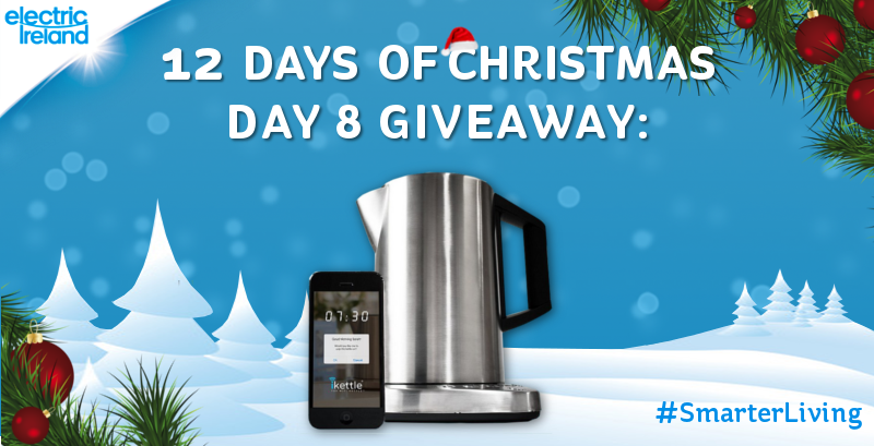 Bring cool tech to your kitchen, win an iKettle in today's Christmas giveaway! Follow & RT to enter! #SmarterLiving http://t.co/8Bpz96DnO7