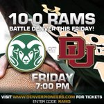 Get down to Denver on Friday to watch your 10-0 @CSUMensBball take on DU! #CSURams http://t.co/QYpk04FQv0