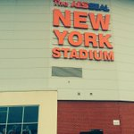 More @AESSEALplc branding has gone up at the AESSEAL New York Stadium today. #rufc http://t.co/XCkQZgn6sQ