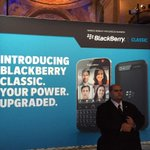 RT @petepachal: Getting ready for the launch of the @BlackBerry Classic. It worked for Coke, right? #BlackBerryClassic